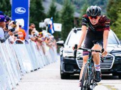 2019 Abbigliamento Ciclismo Donne Canyon Sram Nero Rosso Manica Corta e Salopette