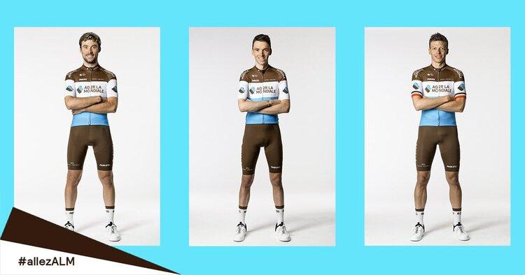 Tuta da ciclismo invariata colore Ag2r La Mondiale 2020